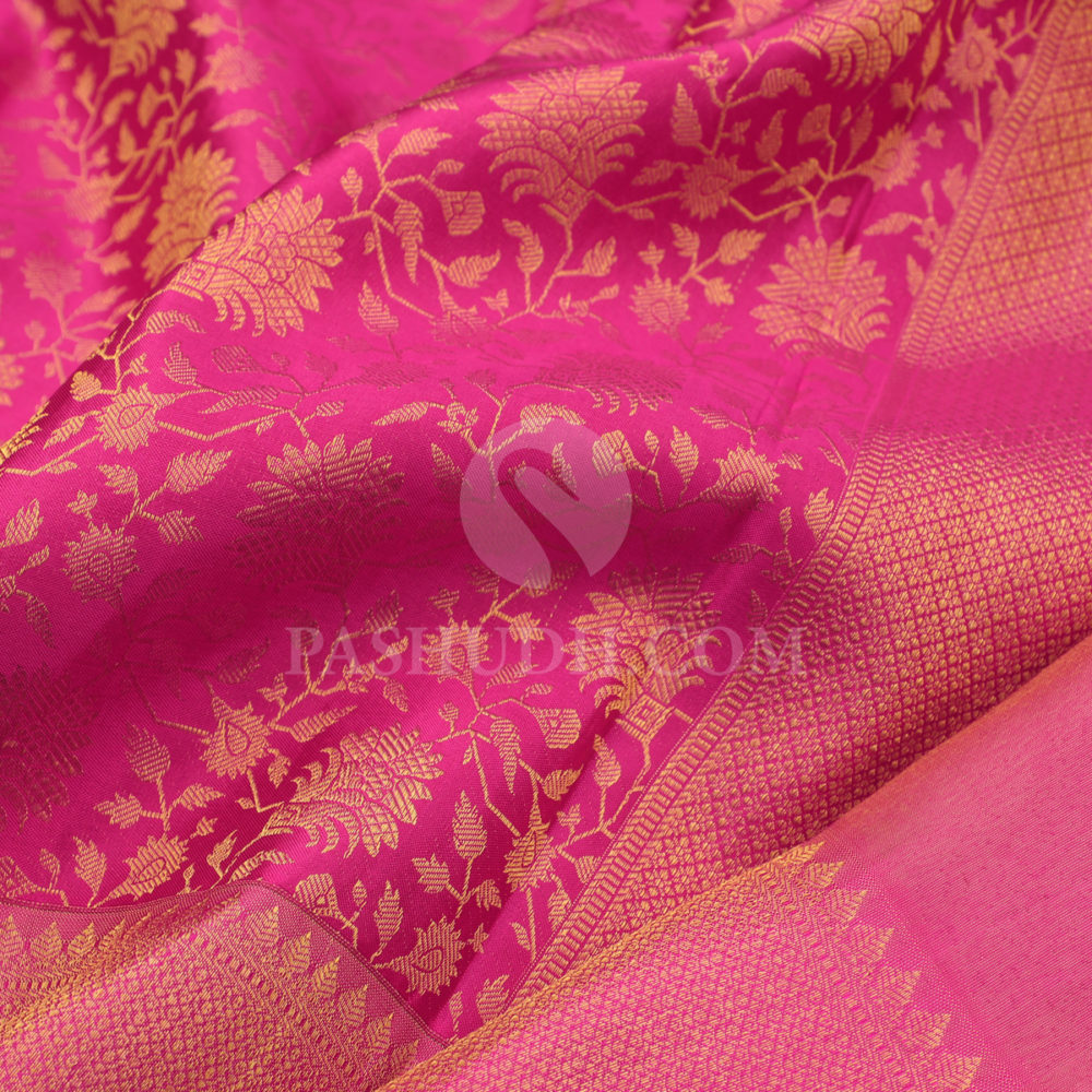 Rani Pink Bridal Silk Saree With Dual Blouse 300552 Pashudh Pioneer In Silk Sarees The bespoke studio provides dream setting. rani pink bridal silk saree with dual blouse 300552